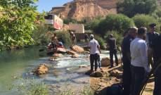 فريق الانقاذ البحري يعثر على جثة سوري بعد فقدانه في نهر العاصي