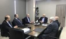 وزير المالية التقى وفداً من نقابة الطوبوغرافيين