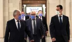 الأسد يستقبل المبعوث الخاص لبوتين على رأس وفد عالي المستوى