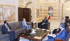 دياب عرض مع سفير ألمانيا للعلاقات الثنائية بين البلدين والحاجات الملحة للبنان