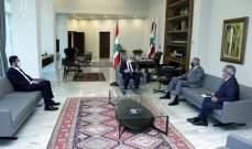 الرئيس عون استقبل أرسلان ومشرفية والغريب ويحث معهم الوضع الحكومي