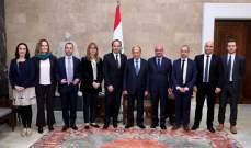 الرئيس عون يؤكد لرئيس المنطمة الانكليزية العربية العلاقات التاريخية بين لبنان والمملكة المتحدة