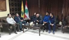 مسؤول حزب الله في صيدا استقبل لجنة حي الطيرة بمخيم عين الحلوة