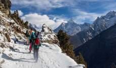 Everest Today: فقدان 3 متسلقين روس أثناء تسلقهم نحو قمة أنابورنا