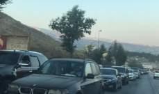 النشرة: زحمة سير خانقة على طريق ضهور الشوير- زحلة