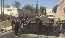 القوات الاسرائيلية تعتقل شابا من محيط باب الاسباط في القدس