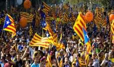 مظاهرات ضخمة في برشلونة بعد يوم إضراب شل شوارع المدينة