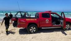 الدفاع المدني: إنقاذ 3 مواطنين من الغرق مقابل شاطئ صور