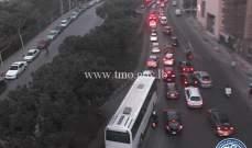 حركة المرور كثيفة من تقاطع برج المر باتجاه جسر زقاق البلاط