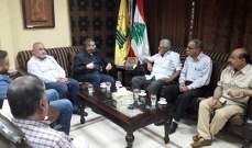 وفد من الجبهة الشعبية لتحرير فلسطين يبحث مع مسؤول منطقة صيدا بحزب الله اخر المستجدات