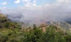 اندلاع حريق كبير في كفرحي البترونية وعناصر الجيش وقوى الأمن والدفاع المدني شاركوا بإخماده