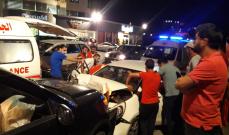 النشرة: جريحان بحادث سير في منطقة الشرحبيل في بقسطا