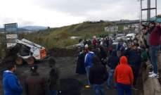 فتح طريق العبدة- المنية بعد قطعها فجرا من قبل محتجين