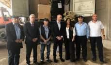 وزير البيئة قدم الى الدفاع المدني هبة كناية عن 450 بزّة إطفاء كاملة