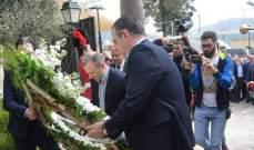باسيل وضع أكاليل زهور عند مدخل كنيسة سيدة التلة في دير القمر