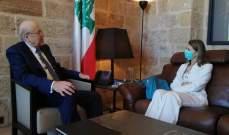 ميقاتي عرض مع سفيرة إيطاليا سبل التعاون بين البلدين