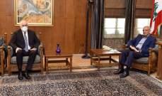 بري استقبل السفير المصري وعرض الاوضاع الامنية مع فهمي