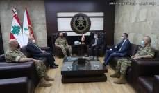 قائد الجيش بحث مع وفد من المفوضية السامية للأمم المتحدة لشؤون اللاجئين شؤوناً مختلفة