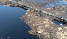 تسرب للمياه من انابيب النفط في ببنين العبدة