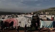 حريق داخل مخيم للنازحين السوريين في مجدل عنجر والأضرار مادية