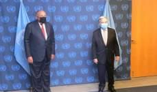 وزير الخارجية المصري بحث وغوتيريس تطورات ملف سد النهضة