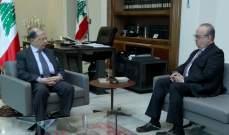 الرئيس عون عرض مع وهاب للاوضاع العامة في البلاد