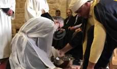 الاب سلوان ترأس قداس خميس الغسل في كنيسة سيدة بشوات