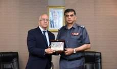 عثمان التقى المستشار لدى السفارة الجزائرية في زيارة وداعية