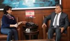 اللواء ابراهيم عرض مع سفيرة تشيكيا سُبل التعاون والتقى الصايغ وعبدالله