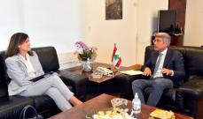 فياض بحث مع شيا الدور الذي تلعبه أميركا بدعم لبنان وشكر تذليل عقبات قانون قيصر