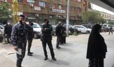 انتشار لقوى الامن في طرابلس امام ماكينات ATM ودوريات راجلة