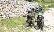 الكتيبة الكورية قامت بتدريب مشترك مع القطاع الغربي باليونيفيل حفاظا