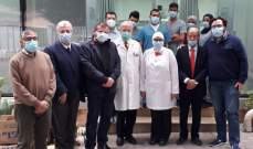 وفد من حزب الله زار قسم كورونا بمستشفى دلاعة وجال على مستشفيات صيدا