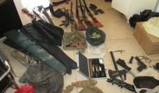 الجيش:توقيف مطلوبين وضبط أسلحة وذخائر خلال عملية دهم بكامد اللوز واللبوة