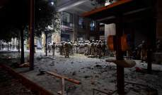 الجيش:اصابات بين العسكريين خلال الاحتجاجات وتوقيف مشاغبين قاموا بعمليات تخريب