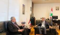 السفير السوري زار فياض وبحثا في التعاون بملف إستجرار الغاز والكهرباء