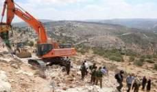 مستوطنون إسرائيليون جرفوا أراضي الفلسطينيين غرب بيت لحم