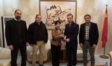 اللقاء التنموي للعرقوب زار السفارة الصينية في بيروت