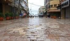 النشرة: انخساف جديد لبلاط السوق التجاري في صيدا بسبب الأمطار