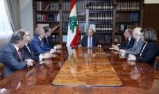 الرئيس عون التقى وفدا من الهيئات الاقتصادية واطّلع منهم على واقتراحاتهم لمعالجة الاوضاع الاقتصادية