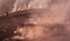 الدفاع المدني اخمد حريقين في جديدة القيطع ومشتى حمود