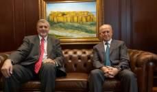 ريفي خلال استقباله كوبيتش: لضرورة تمسك الدولة في لبنان بمظلة الشرعية الدولية