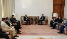 الأسد يستقبل وفداً ليبياً برئاسة نائب رئيس مجلس الوزراء الليبي