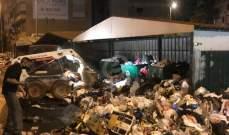 قسم الاشغال في بلدية حارة حريك يرفع النفايات لليوم السادس على التوالي