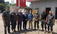 خواجة زار قيادة فوج إطفاء بيرت ووعد بمتابعة مطالبهم مع الجهات المعنية