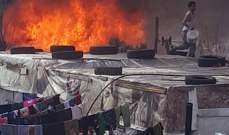 إصابة 8 أشخاص إثر حريق بمضخة بنزين شمال شرق الهند