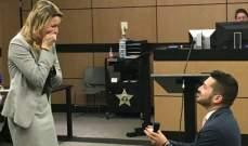 محامي خطّط لمحاكمة وهمية ليعرض فيها الزواج على حبيبته