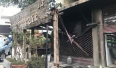 احتراق مقهى في الهرمل بعد تعرضه لاطلاق نار ولا إصابات