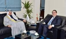 شقير عرض مع سفيري الكويت والجزائر العلاقات الثنائية وسبل تطويرها