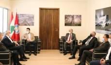 تيمور جنبلاط بحث مع وفد من جمعية الصناعيين مشاكل القطاع الصناعي